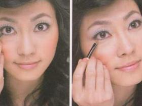 瞳孔较小的眼形修饰法