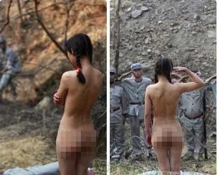 抗日剧现大尺度全裸女子 与红军战士相互敬礼