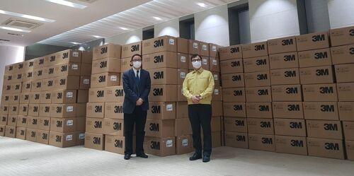 上海市向韩国大邱、庆北地区捐赠50万只口罩